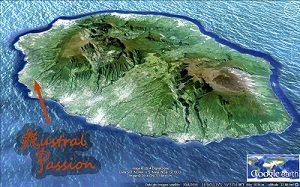 Austral Passion est situé sur la cote ouest de La Réunion