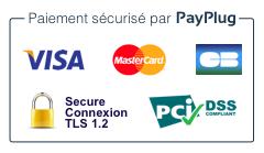 Badge de Payplug - Paiement en ligne sécurisé