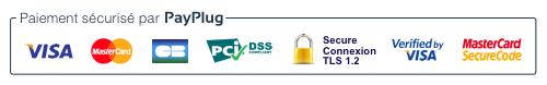 Badge large de Payplug - Paiement en ligne sécurisé