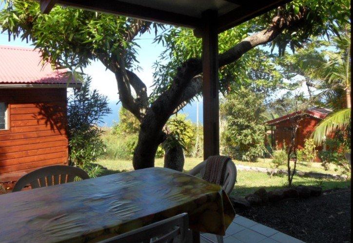Terrasse du bungalow Mangue