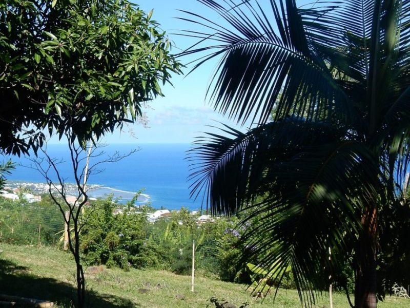 Vue depuis le bungalow Goyave, mer et lagon d'Etang Salé les Bains